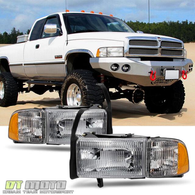 1994 2001 Dodge Ram 1500 2500 3500 Truck Headlights Signal Corner Lamps Pair Set