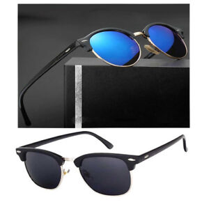 Men Retro Round Polarized Sunglasses Women Outdoor Driving UV400 Fashion Eyewear