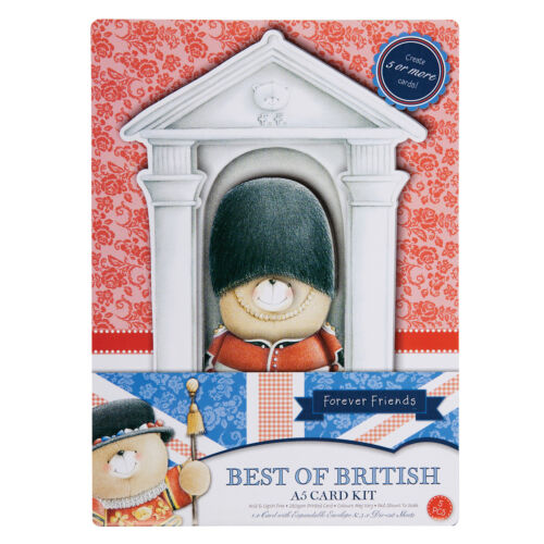 Best of British Queens Guard Papermania Forever friends decoupage A5 card kit