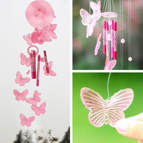 UK/_ BUTTERFLY MOBILE WIND CHIME BELL GARDEN ORNAMENT INDOOR WINDOW HANGING DECOR