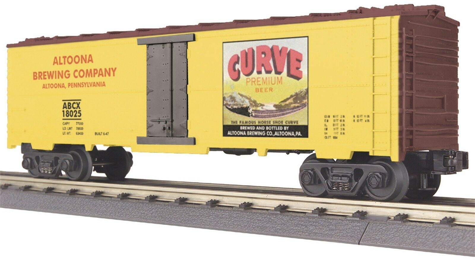 30-7843 Curve Beer Modern Reefer Car MTH