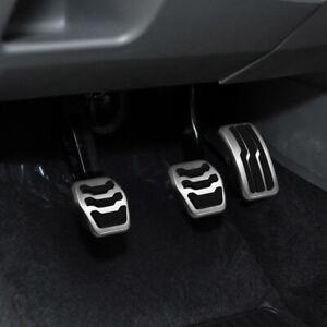 Pedalset-Pedale-Pedalkappen-Edelstahl-fuer-Ford-Kuga-Focus-MK2-MK3-MK4