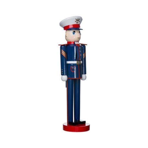 """Kurt Adler 15/"""" Wooden Military Nutcracker White"""