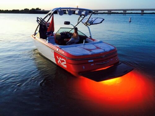 RED RTY LED BOAT DRAIN PLUG LIGHT 1200 LUMEN RATED boat plug TRANSOM LED LIGHT