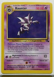 RARE Non Holo Fossil Pokemon Card $1 Combined Shipping NM Haunter 21//62 M