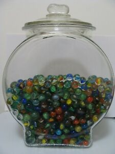 100 Random Vintage Classic Cats Eye Marbles Multicolor Red Blue Yellow Green
