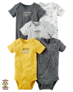 Carter-039-s-Bodysuits-5-Pack-Short-Sleeve-Set-9-months-Authentic-and-Brand-New