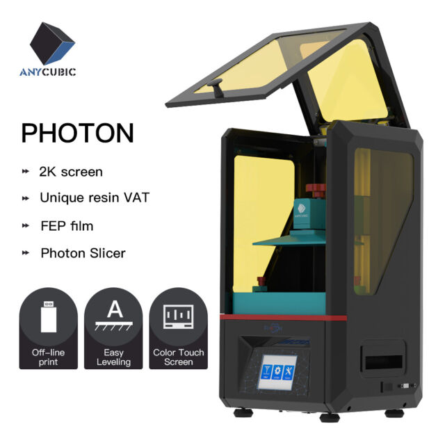 """CA ANYCUBIC SLA Photon 3D Printer Light Cure Resin Assembled 2.8"""" Touch Screen"""