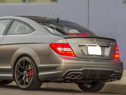 Mercedes AMG W204 C204 C Class Coupe Boot Trunk Lid Spoiler Gloss Black