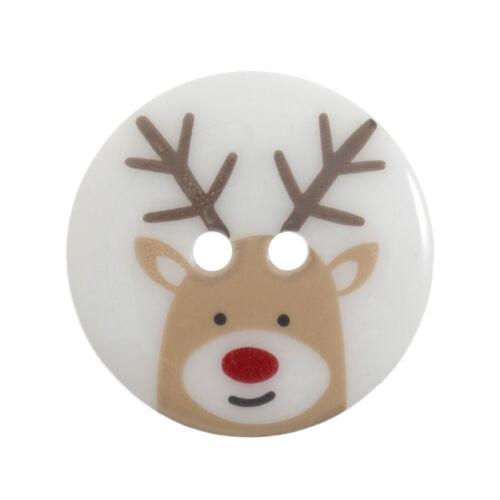 Trimits Suelto Botones-Navidad personaje impreso botón 36 lignes//23mm