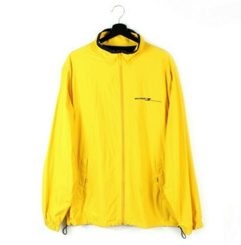 90s vintage Tommy Hilfiger Athletics lightweight jacket  Rare Yellow rain windbreaker  Rare light jacket  made in Sri Lanka M