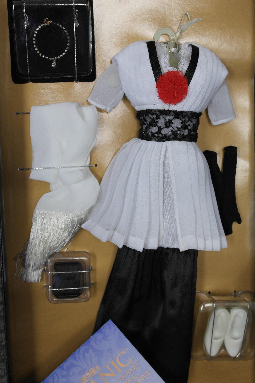 Franklin Mint Titanic rosado Muñeca Negra y blancoa Elevador conjunto raro certificado de autenticidad