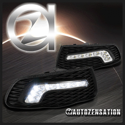 08-11 Benz W204 SMD LED Driving Bumper Fog Lights DRL+Cover Daytime Running