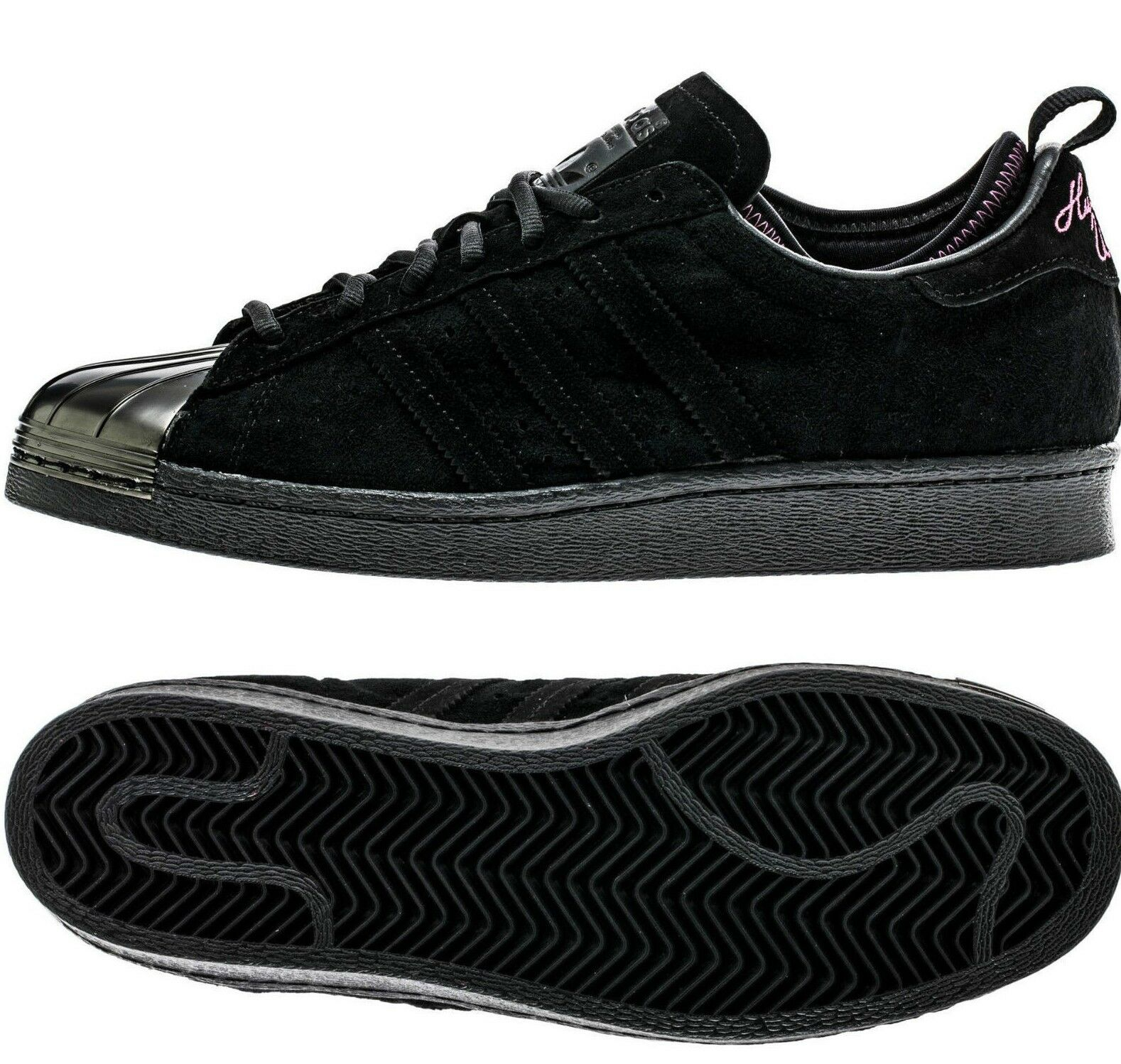 MENS ADIDAS ORIGINAL X SUPERSTAR 80'S EDDIE HUANG WORLD BLACK ATHLETIC SHOES
