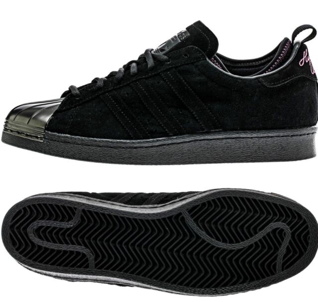 finest selection 110dc 92f1d MENS ADIDAS ORIGINAL X SUPERSTAR 80S EDDIE HUANG WORLD BLACK ATHLETIC SHOES