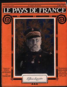 WWI-Portrait-Amiral-Auguste-Boue-de-Lapeyrere-Carte-Map-France-1915-ILLUSTRATION