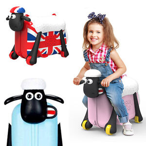 Shaun the sheep kids luggage& sholderbag Ride on Suitcase red ...