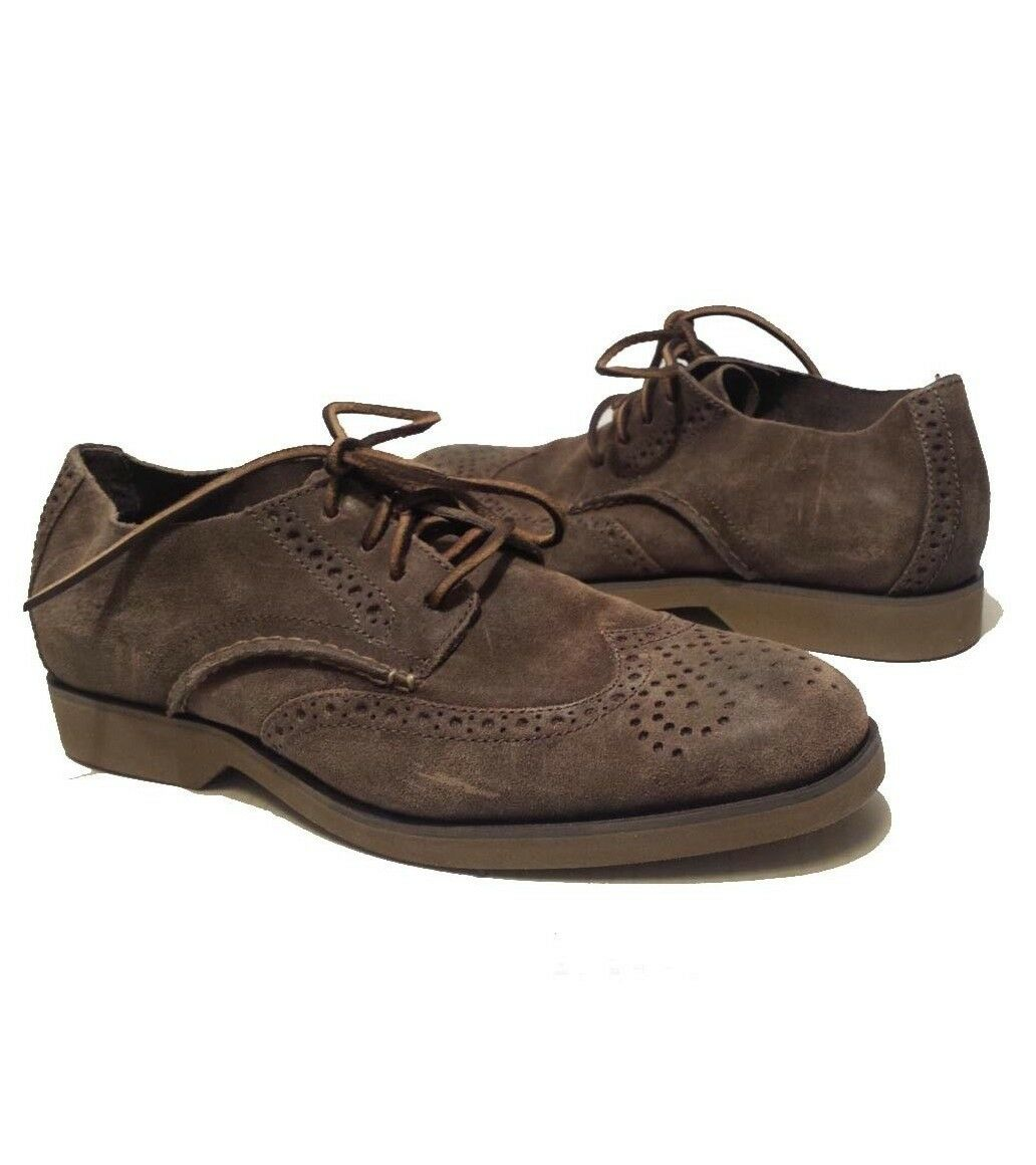 Sperry Top-Sider Men Size 8.5 Brown Leather shoes Wingtip Slip Resistant Suede