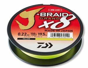 Daiwa-J-Braid-Grandiose-X8-Fil-135m-Jaune-Toutes-les-Tailles-Predator