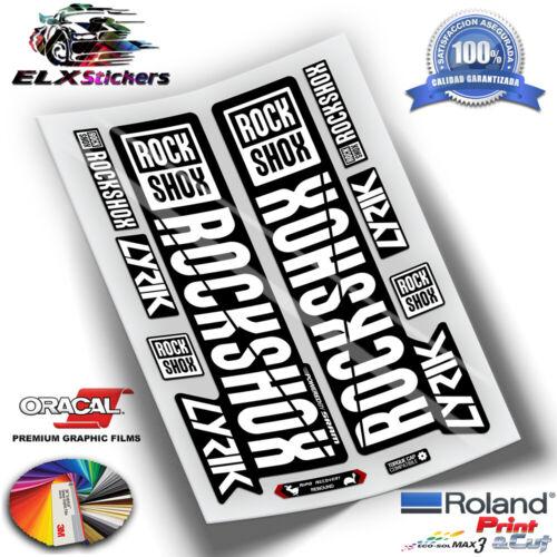 ADESIVI DECALS STICKERS PEGATINAS HORQUILLAS ROCKSHOX LYRIC COLORES 2018 WP62