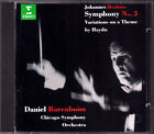 Daniel BARENBOIM BRAHMS Symphony No.3 Haydn Variations ERATO CD Chicago Sinfonie
