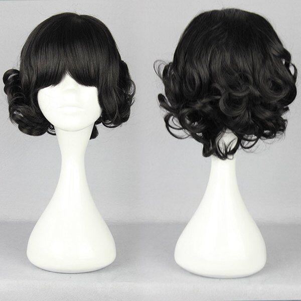 Lolita short Long Curly Wavy Hair Full Wigs Harajuku Anime Cosplay Party Wig