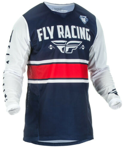 FLY RACING KINETIC MESH ERA JERSEY NAVY//WHITE//RED **CHOOSE SIZE