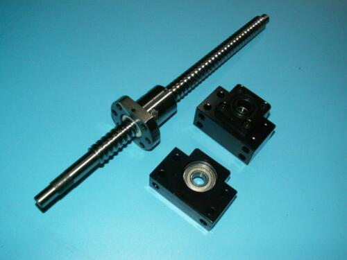 anti backlash 25mm ballscrew RM2505-1050mm-C7+1 set BK//BF20 end support bearing