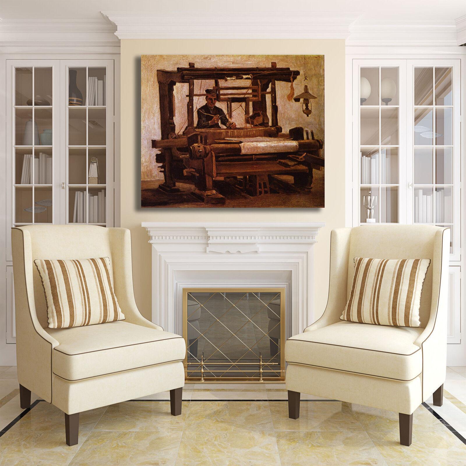 Van Gogh tessitore al telaio quadro dipinto stampa tela dipinto quadro telaio arRouge o casa 359065