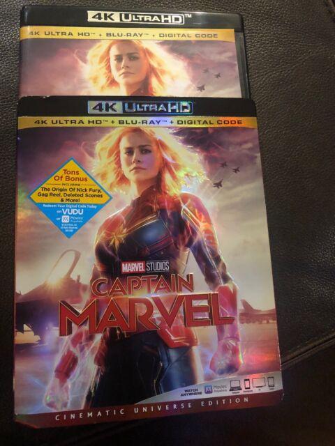 Captain Marvel (4K Ultra HD & Bluray new only opened for digital code