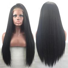 Heiß Glueless Brazilian Hair Lace Front Wig Full Lace Perücken Synthetic Haar