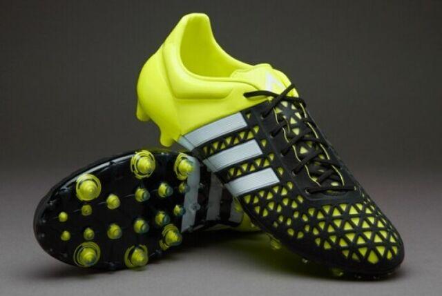 quality design 51e3c e217f ADIDAS ACE 15.1 FG/AG B32857 Football Boots Soccer Cleats Black Green White