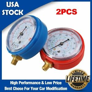 Details about A/C Pressure Gauge High Low High For Refrigerant  R134a/R404a/R22 Degree Celsius