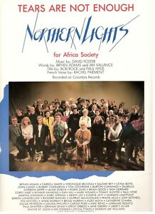 TEARS-ARE-NOT-ENOUGH-NORTHERN-LIGHTS-FOR-AFRICA-SOCIETY-SHEET-MUSIC-1985-NEW