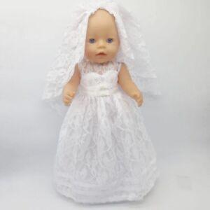 Kleidung & Accessoires Rosa Spitze für Puppe Kleid Puppenkleid Grau