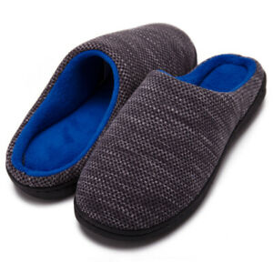 Winter-House-Memory-Foam-Slippers-Men-Women-Warm-Plush-Fleece-Lined-Shoes-Size