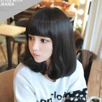 Heat Resistant Women Bob Style Medium Long Curly Synthetic Hair Full Cosplay Wig