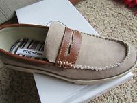 Steve Madden Gomer Penny Loafer Shoes Mens 8 Natural Slip-ons