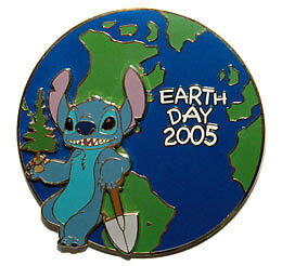 Disney Auctions Stitch Earth Day Jumbo LE 100 Pin