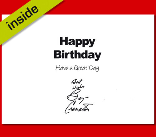 BREAKING BAD Autograph Signed Birthday Card Repro Print By Bryan Cranston No3