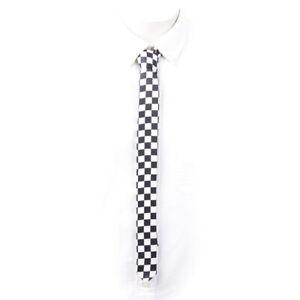 SKA-CHECKERBOARD-Krawatte-schmal