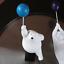 Creative Flying Polar Bear Figurines Holding Balloon Home Wall Decoration Resin