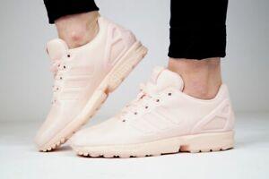 Details zu ADIDAS ZX FLUX J Damenschuhe Mächen Sneaker Sportschuhe Originals Rosa EG3824