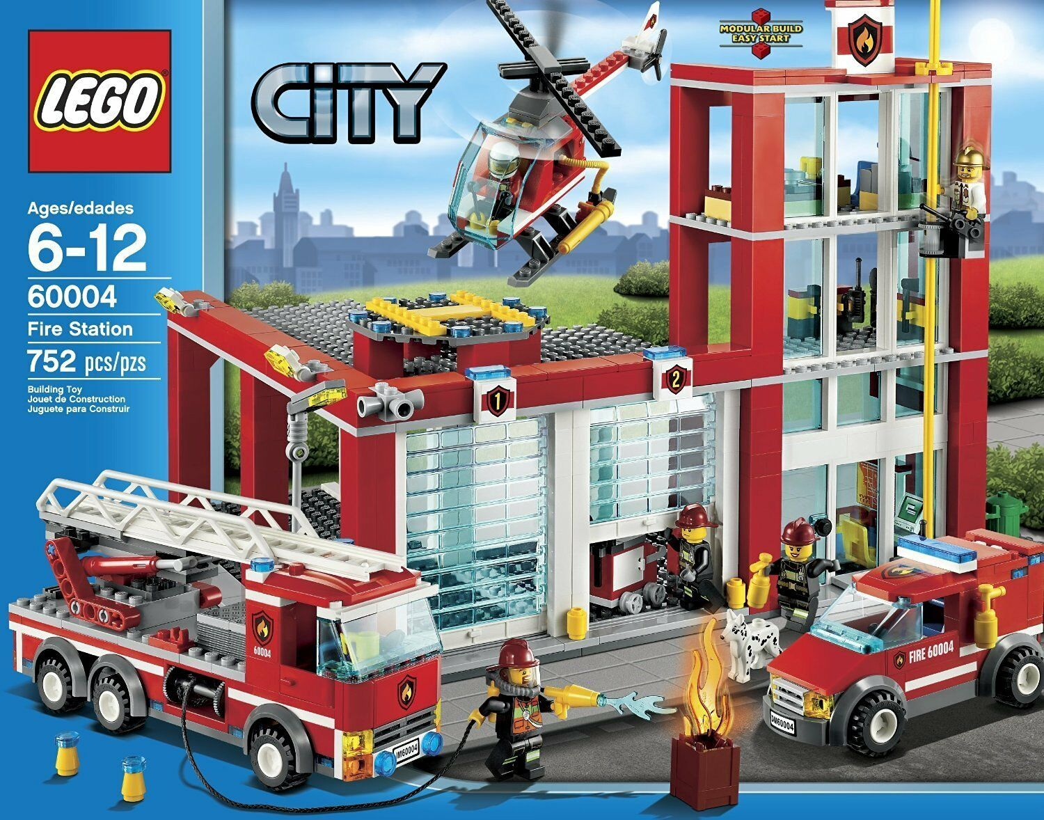 City 406f36 Box Set Station Retired New Fire In 60004 Lego OXTilwuZPk