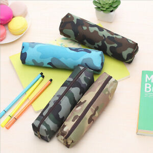 Camouflage-Combat-Army-Green-Pencil-Pen-Case-Boys-Kids-School-College-Home-Camo