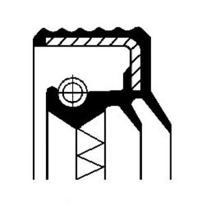 Radnabe für Radaufhängung Hinterachse CORTECO 12013927B Wellendichtring