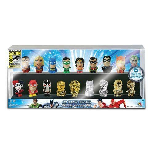SDCC 2013 DC SUPER HEROES TEAM Exclusive Eraser Set