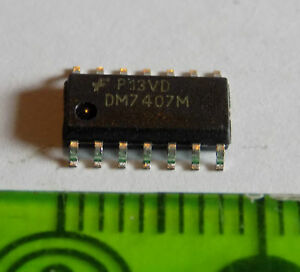 DM7407M-SO14-Hex-buffers-with-high-voltage-Open-COLLECTOR-output-NS