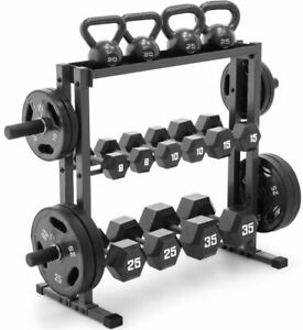 Olympic-Dumbbell-Rack-Gym-Plates-Stand-Fitness-Equipment-Weight-Lifting-Storage