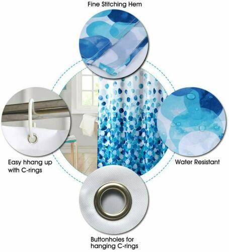 New Orleans Saints Football Bathroom Shower Curtain Waterproof Bath Curtain Hook